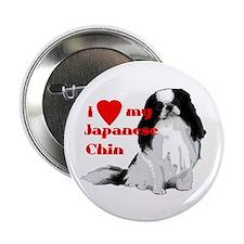 Japanese Chin valentine Button