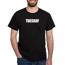 TUESDAY Black T-Shirt