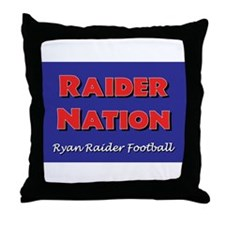 Raider Nation Throw Pillow