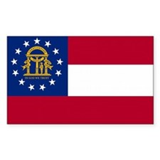 Georgia State Flag Decal