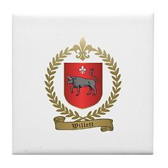 WILLETT Family Crest Tile Coaster
