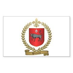 WILLETT Family Crest Sticker (Rectangle)