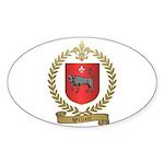 WILLETT Family Crest Sticker (Oval 10 pk)