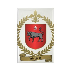 WILLETT Family Crest Rectangle Magnet (10 pack)