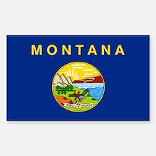 Montana State Flag Sticker (Rectangle)