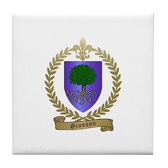 GIASSON Family Crest Tile Coaster