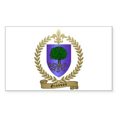 GIASSON Family Crest Decal