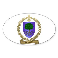 GIASSON Family Crest Sticker (Oval 10 pk)