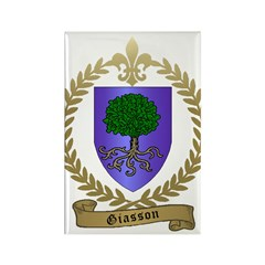 GIASSON Family Crest Rectangle Magnet (100 pack)