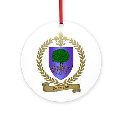 GIASSON Family Crest Ornament (Round)
