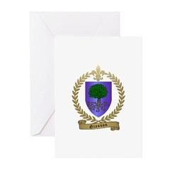GIASSON Family Crest Greeting Cards (Pk of 20)