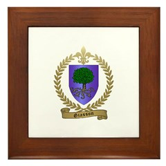 GIASSON Family Crest Framed Tile