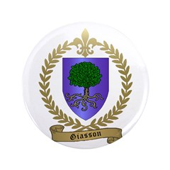 "GIASSON Family Crest 3.5"" Button (100 pack)"