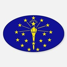 Indiana State Flag Sticker (Oval)