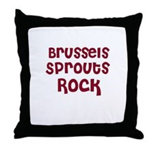 Brussels Sprouts Rock Throw Pillow
