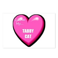 I Love My Tabby Cat Postcards (Package of 8)