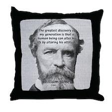 Attitude Perception on Life Throw Pillow