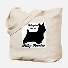 ADOPTED by a Silky Terrier Tote Bag