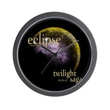 Eclipse Screening Party Wall Clock