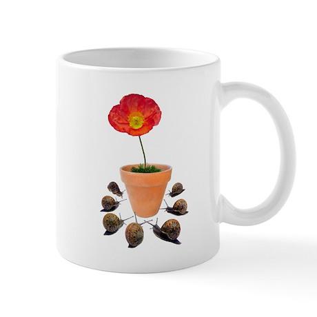 Snails Surround Flower Mug