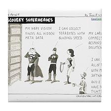 e-Discovery Superheroes Tile Coaster