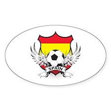 Spainish Soccer Oval Decal
