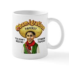 Obam-igration No Stinkin' Papers Mug