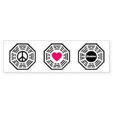 PeaceLoveLost Bumper Sticker