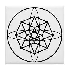 Galactic Navigation Institute Emblem Tile Coaster