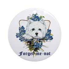 Westhighland White Terrier Forget Me Not Ornament