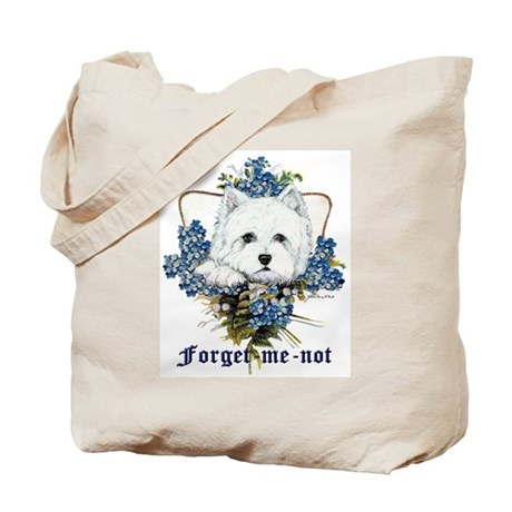 Westhighland White Terrier Forget Me Not Tote Bag