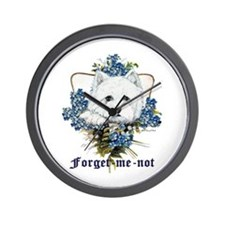 Westhighland White Terrier Forget Me Not Wall Cloc