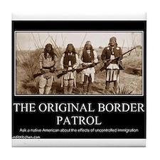 Cute Original border patrol Tile Coaster