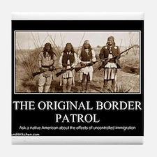 Funny Border patrol Tile Coaster