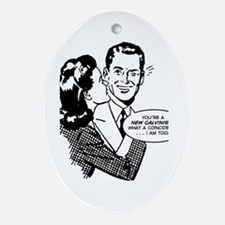 New Calvinist, Too Ornament (Oval)