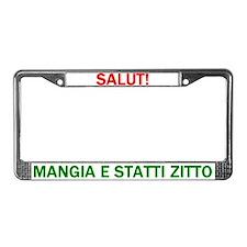 Mangia License Plate Frame