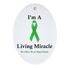 Living Miracle 2 Oval Ornament