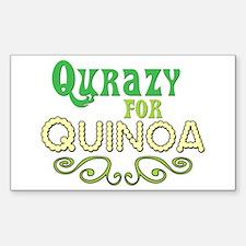 Qurazy for Quinoa Sticker (Rectangle)