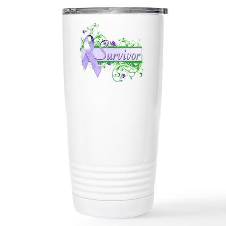 Survivor Floral Stainless Steel Travel Mug