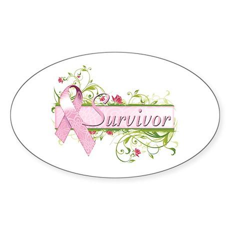 Survivor Floral Sticker (Oval)