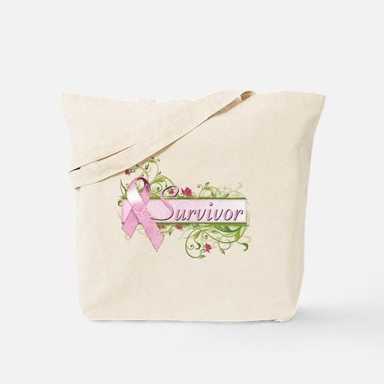 Survivor Floral Tote Bag