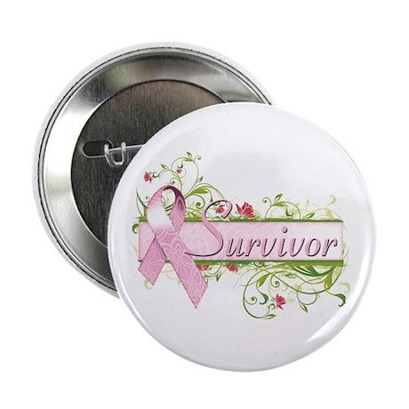 """Survivor Floral 2.25"""" Button"""