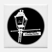 New Orleans lampost Tile Coaster