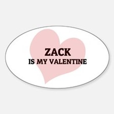 Zack Is My Valentine Oval Decal