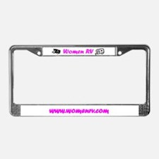 Cute Women rv License Plate Frame