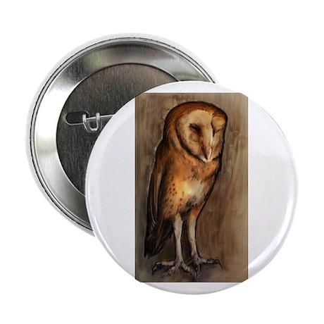 """Barn Owl 2.25"""" Button"""