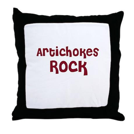 Artichokes Rock Throw Pillow