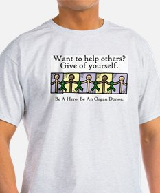 Give of Yourself Ash Grey T-Shirt