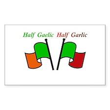 Half Gaelic Half Garlic Decal