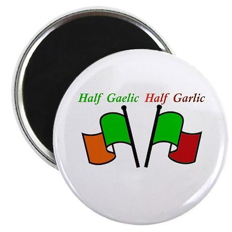 "Half Gaelic Half Garlic 2.25"" Magnet (100 pac"